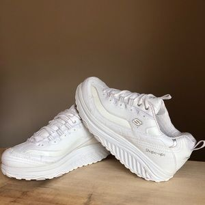 Skechers Shape Ups Triple White
